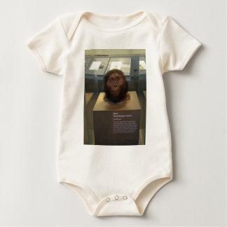 Paranthropus boisei; museum exhibit baby bodysuit