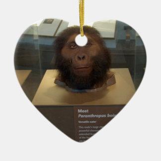 Paranthropus boisei; museum exhibit ceramic ornament
