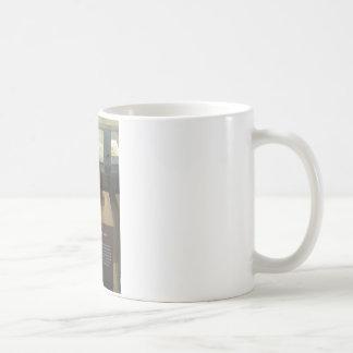Paranthropus boisei; museum exhibit coffee mug