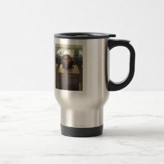 Paranthropus boisei; museum exhibit travel mug