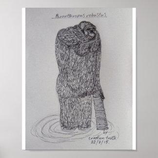 Paranthropus Robustus Poster