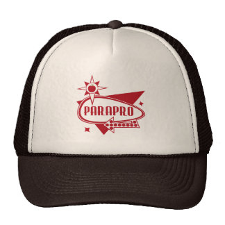 Parapro - Retro Red 60's Inspired Sign Mesh Hat
