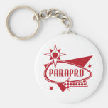 Parapro - Retro Red 60's Inspired Sign Keychains