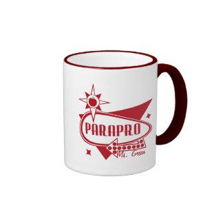 Parapro - Retro Red 60's Inspired Sign Ringer Mug
