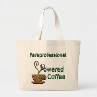 Paraprofessional accionado por el café bolsa tela grande