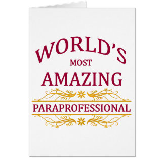 Paraprofessional Greeting Card