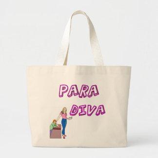 Paraprofessional Diva Large Tote Bag