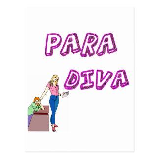 Paraprofessional Diva Postcard