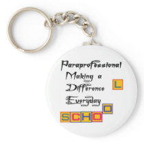 PARAPROFESSIONAL MAKING A DIFFERENCE KEYCHAIN