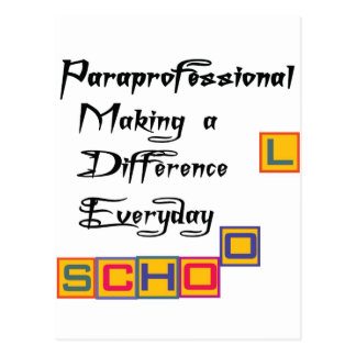 PARAPROFESSIONAL MAKING A DIFFERENCE POSTCARD