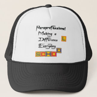 PARAPROFESSIONAL MAKING A DIFFERENCE TRUCKER HAT