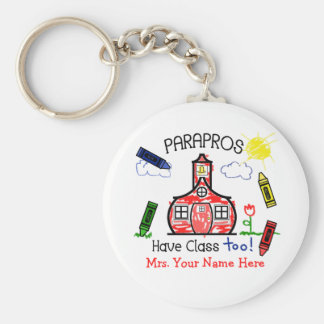 Parapros Have Class Too! Crayons & Schoolhouse Keychain