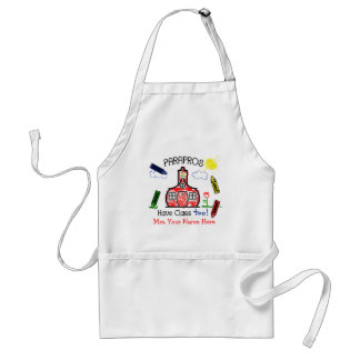 Parapros Have Class Too! Schoolhouse & Crayons Adult Apron