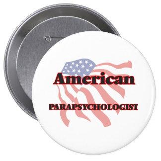 Parapsychologist americano pin redondo de 4 pulgadas