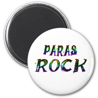 PARAS ROCK WITH COLOR 2 INCH ROUND MAGNET