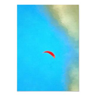 Parasailig high in the sky card