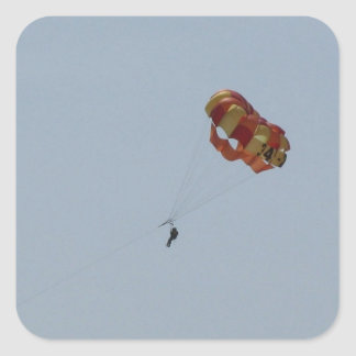 Parasailing Above the Ocean Square Sticker