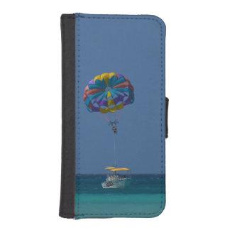 Parasailing colorido billeteras para teléfono