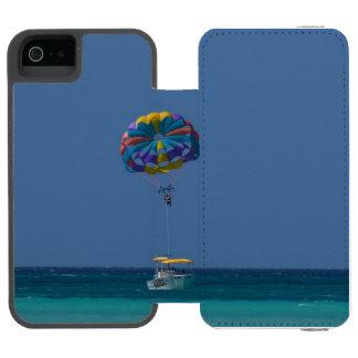 Parasailing colorido funda billetera para iPhone 5 watson