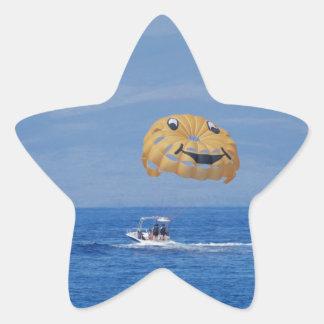 Parasailing del amor pegatinas forma de estrella personalizadas