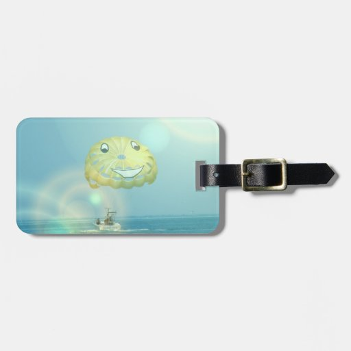 Parasailing Luggage Tag