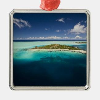 Parasailing over the beautiful lagoon of Bora 3 Metal Ornament