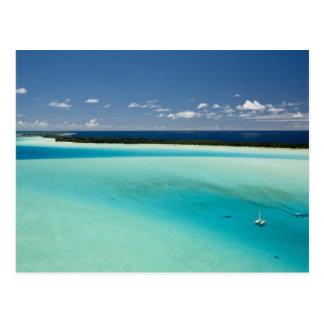 Parasailing over the beautiful lagoon of Bora 4 Postcard