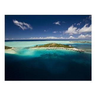 Parasailing sobre la laguna hermosa de Bora 3 Tarjeta Postal
