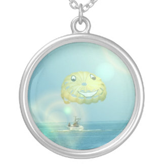 Parasailing Sterling Silver Necklace