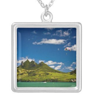Parasailing within View of impressive Lion Square Pendant Necklace