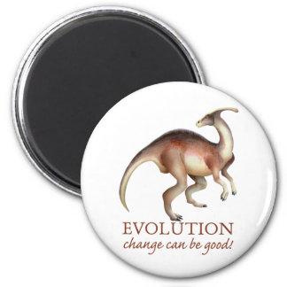 Parasaurolophus de la evolución imán de frigorífico