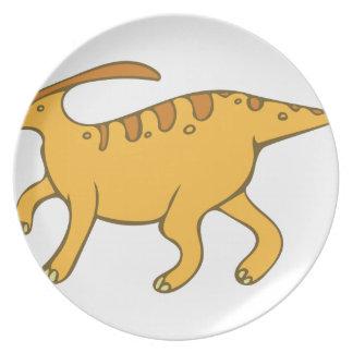 Parasaurolophus Dinner Plate