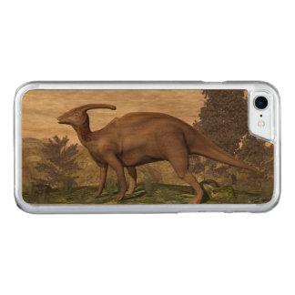 Parasaurolophus dinosaur among gingko trees carved iPhone 7 case