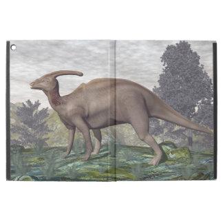 "Parasaurolophus dinosaur among gingko trees iPad pro 12.9"" case"