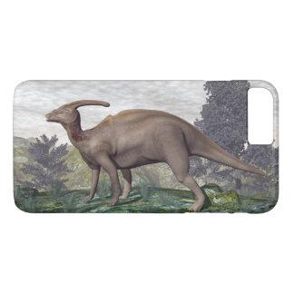 Parasaurolophus dinosaur among gingko trees iPhone 7 plus case