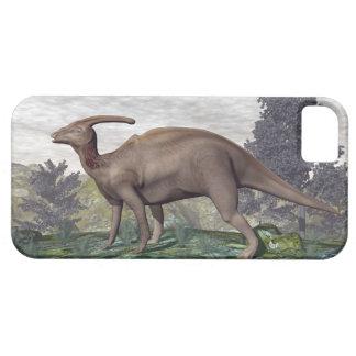 Parasaurolophus dinosaur among gingko trees iPhone SE/5/5s case