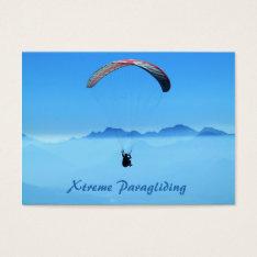 Parascending Paragliding Blue Sky - Business Card at Zazzle