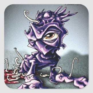 Parasite11 Pegatina Cuadrada