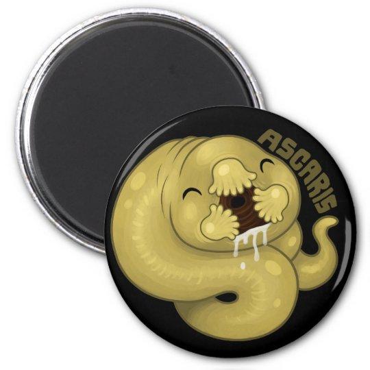 PARASITES: Ascaris 2 Inch Round Magnet