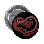 PARASITES: Blood Flukes (schistosoma) Pinback Buttons