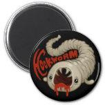 PARASITES: Hookworm (Necator) Fridge Magnet