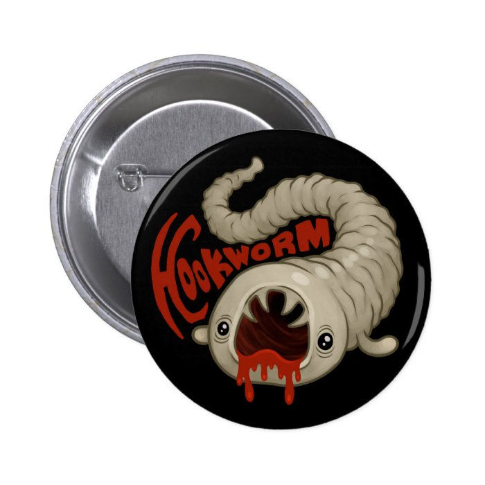 PARASITES: Hookworm (Necator) Pinback Button