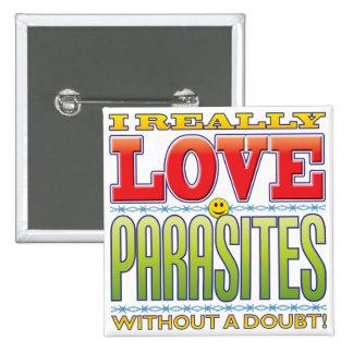 Parasites Love Face Pinback Buttons
