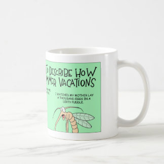 Parasites talk about their summer vacations coffee mug