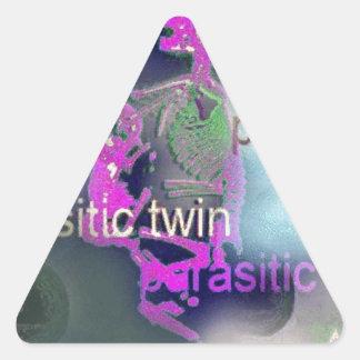 Parasitic CD Cover.(purple) Triangle Sticker