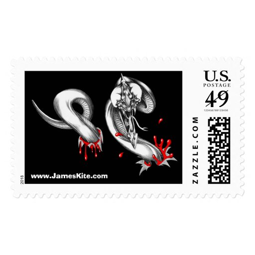 Parasitic Chestburster Postage Stamp