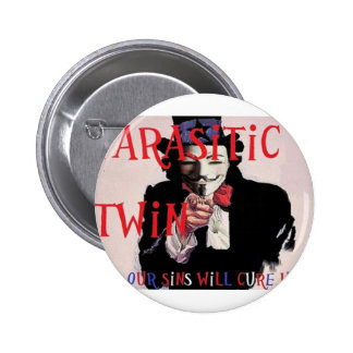 Parasitic Twin Band Pinback Buttons