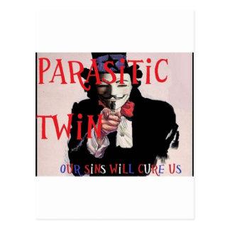 Parasitic Twin Band Postcard