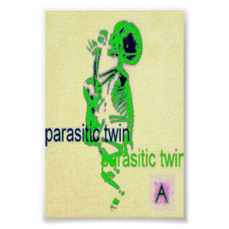 Parasitic Twin(Poster) Green Poster