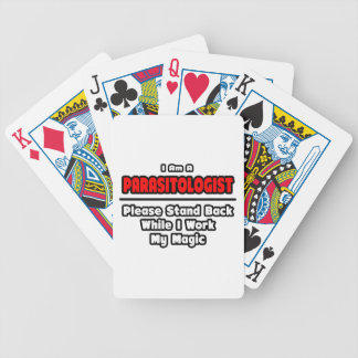 Parasitologist ... Work My Magic Bicycle Playing Cards